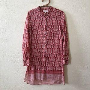 Nili Lotan Paisley Print Tunic Dress M